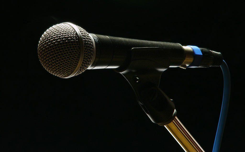 un microphone chant, Shure SM58