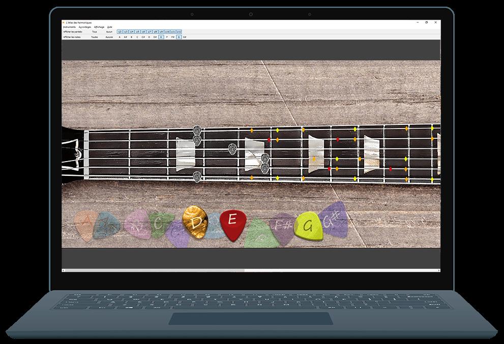 L'Atlas des harmoniques - mockup laptop
